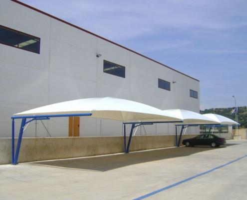 EUROPA PREFABRI - Cubiertas textiles para parking