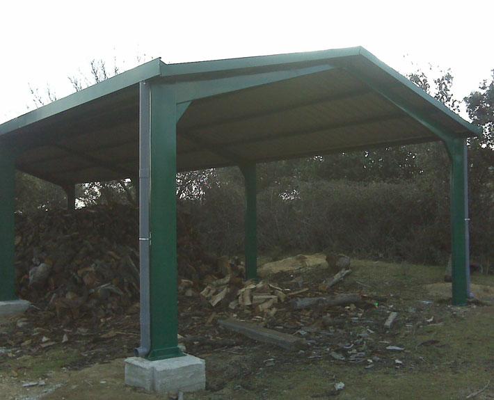 EUROPA PREFABRI- Marquesina para cobertizo de leña