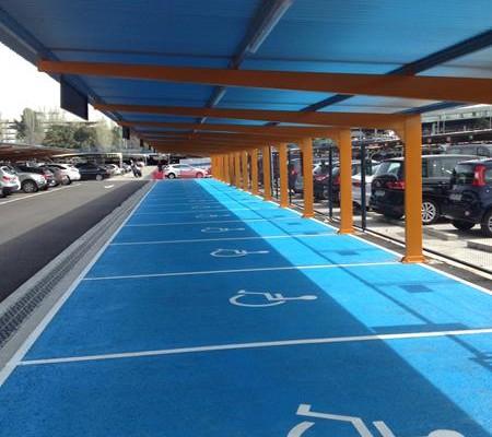 Marquesinas parking madrid barajas