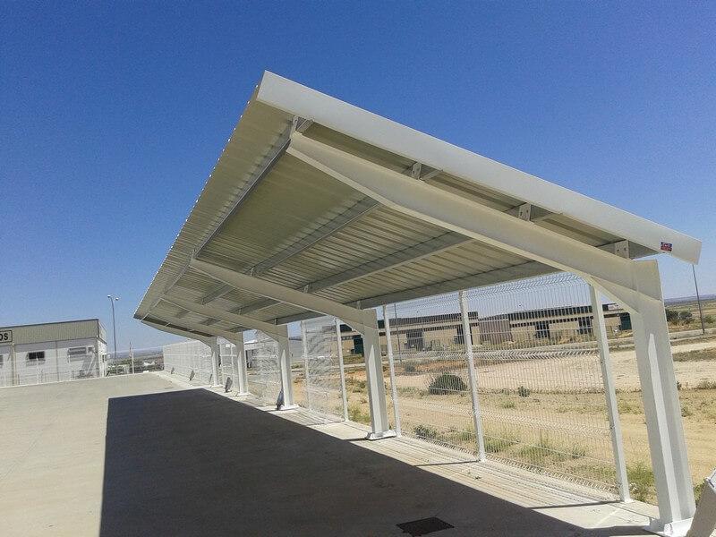 Marquesinas solares de parking en Toledo 08