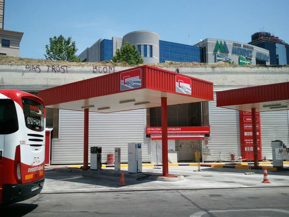 marquesina especial para estacion de autobuses en madrid