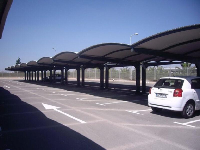 marquesinas de aparcamiento modelo ola
