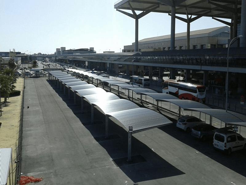marquesinas de parking para el aeropuerto de malaga