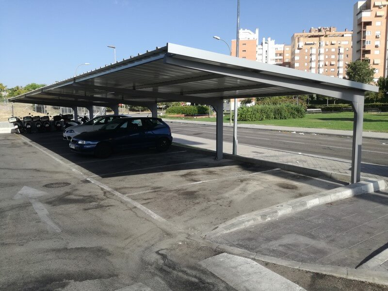 marquesinas de parking para un burger king en madrid 04