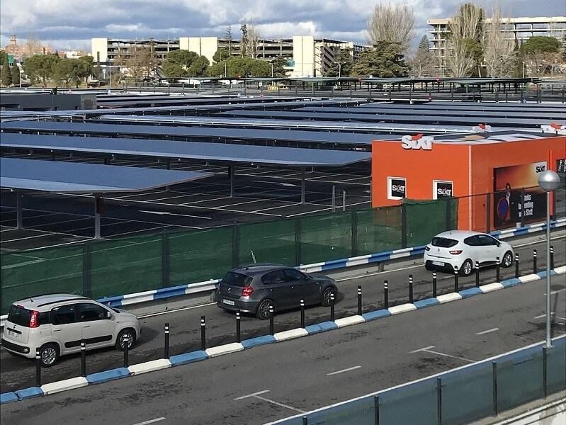 marquesinas para coches y pasillos peatonales para el aeropuerto madrid-barajas 01