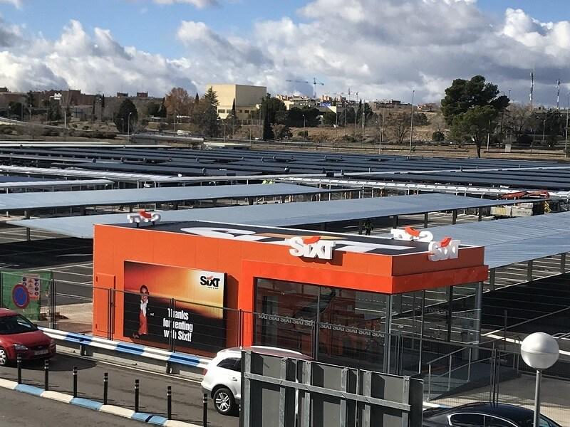 marquesinas para coches y pasillos peatonales para el aeropuerto madrid-barajas 07