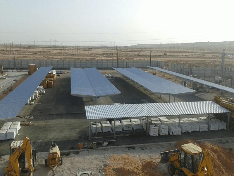 marquesinas de aparcamiento para las cocheras del tranvía de ouargla en argelia
