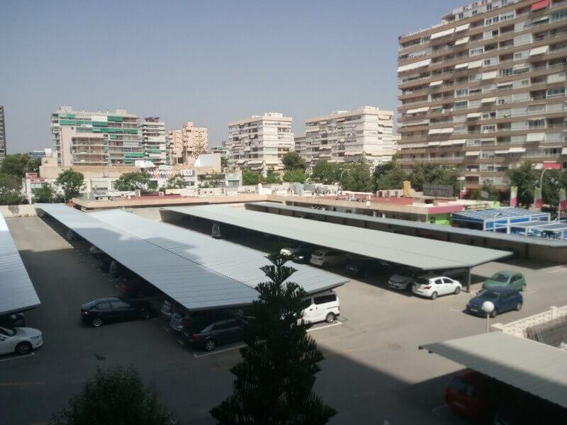 marquesinas de aparcamiento para una comundiad de vecinos en benidorm