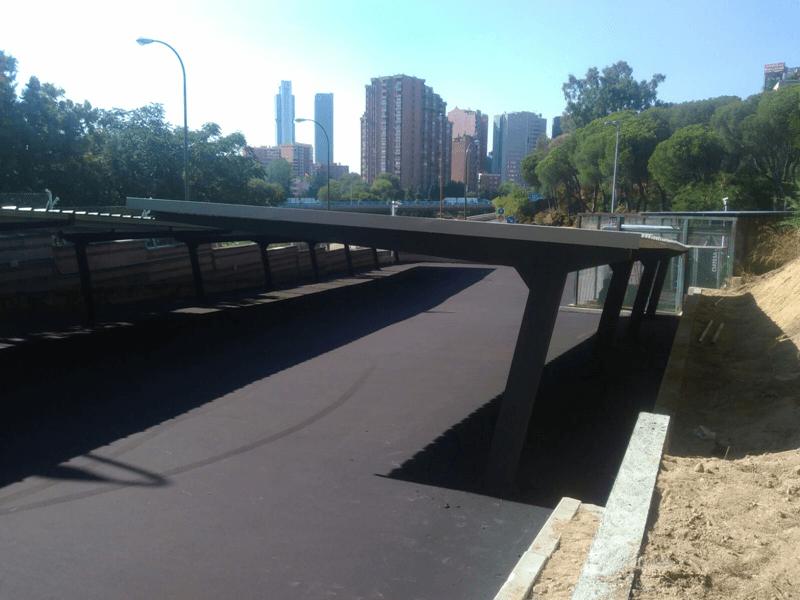 techados de metal para parking de coches para la marina