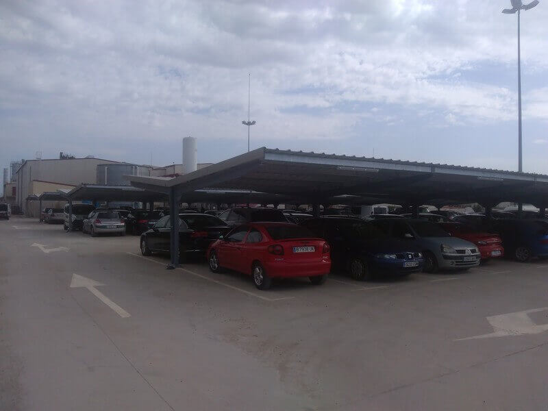 techos de parking para coches para metalogenia en huesca